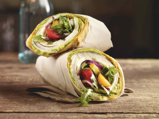 Turkey Tomato Basil Wrap