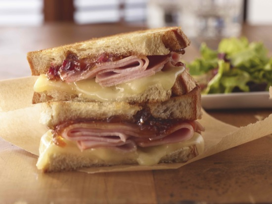 Ham, Figs and Provolone Cheese Sandwich