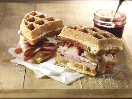 Turkey and Ham on Waffle Monte Cristo