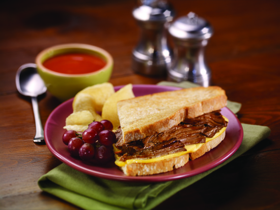 Grilled Beef and Cheddar Melt