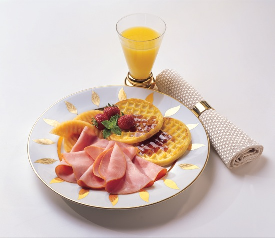 Ham with Waffles