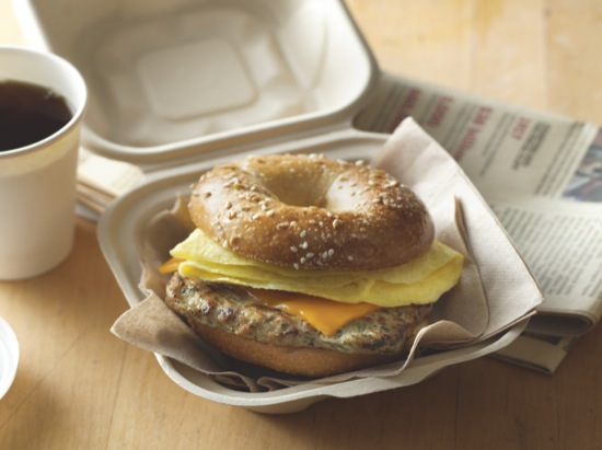 Breakfast Burger Bagel