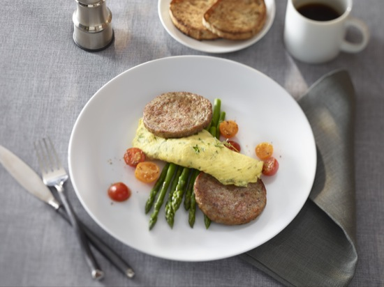 Breakfast Sausage Patty with Asparagus