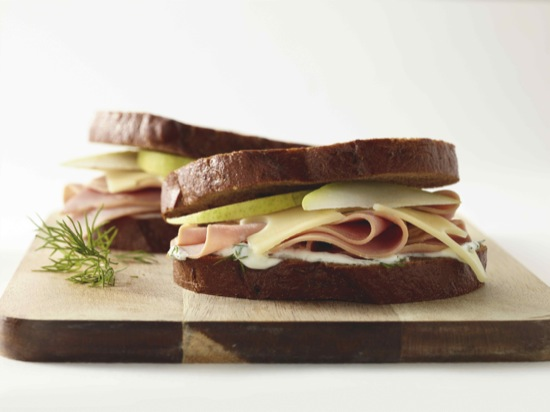 Ham, Pear and Swiss Cheese Sandwich