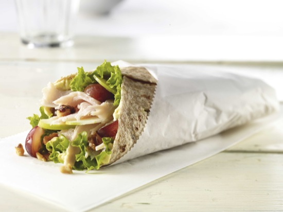 Turkey and Apple Wrap