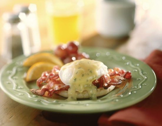 Applewood Bacon Eggs Benedict