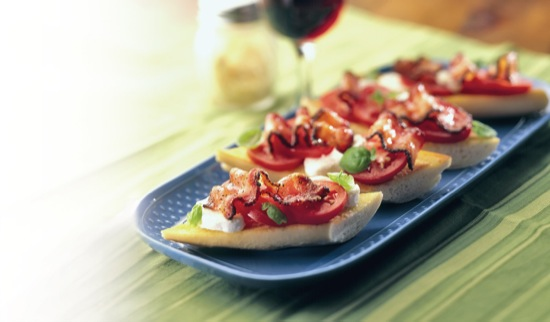 Bacon on Bruschetta