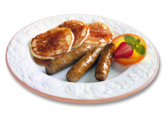 Sausage Link with Pancakes