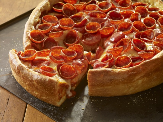 Deep Dish Pepperoni Pizza
