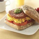 Chorizo Patty and Herbed Egg Sandwich