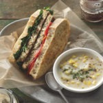 Turkey Sandwich with Spinach and Red Pepper