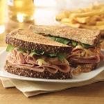 Cherrywood Ham, Gruyere and Onion Sandwich
