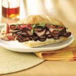 Roast Beef with Red Onion Marmalade on Ciabatta