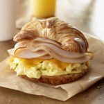 Turkey Croissant Breakfast Sandwich