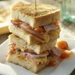 Ham, Smoked Gouda and Apricot Panini Stack