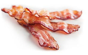 The taste, texture and appearance of raw bacon with the efficiency of fully cooked.