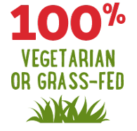 Benefit: 100% Vegetarian or Grass-Fed