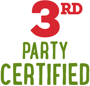 Benefit: 3rd Party Certified