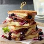Brie and Blueberry Ham Sandwich