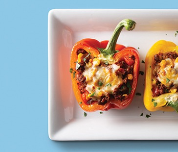 Plant-Based Ground Stuffed Peppers