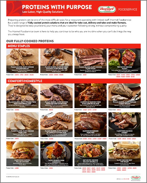 Hormel Foodservice protein guide thumbnail