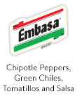 Embasa Chipotle Peppers, Green Chiles, Tomatillos and Salsa